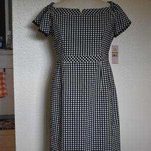 NWT Nanette Lepore Gingham Bond Street Dress